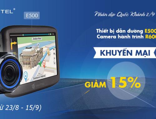 Khuyến mãi Quốc Khánh 02/09: Giảm giá 15% cho Navitel E500 & R600